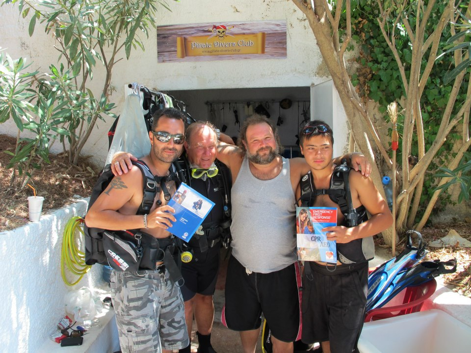 pirate divers club in Kefalonia island Greece